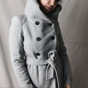 ZARA Oversized Hood Double Breasted Pea Coat